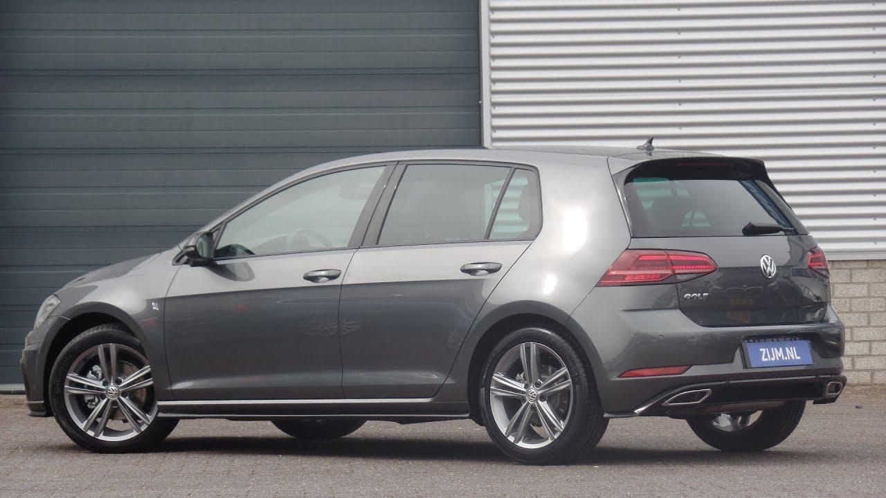 Volkswagen New Golf R Line 2019 Indium Grey 17 Inch Sebring Walk Around Detail Inside Youtube