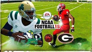 🏈 NCAA Football 19  (#11) Norte Dame vs. (#4) Georgia (NCAA 14 Updated Rosters!!!) 4K Gameplay!!!