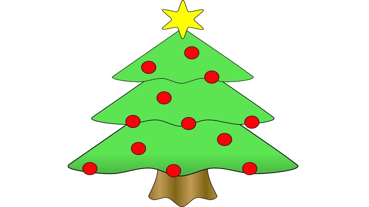Coloring Pages-How to draw a christmas tree with presents ...