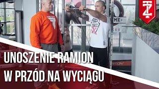 BARKI ĆWICZENIA - Unoszenie ramion w przód na wyciągu | Podstawy dla początkujących | M.Karmowski