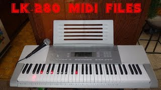 Gambar cover Casio  LK-280 keyboard How to download and Configure Midi files for lesson playback