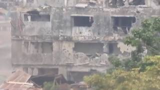 AFP Penetrating Solid Structures Occupied by Maute Terrorist Group in Marawi City