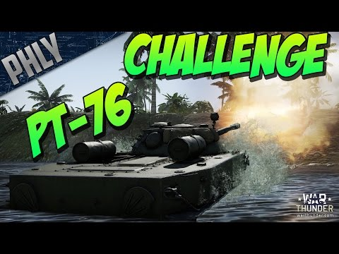 CROSS THE POND - PT-76 CHALLENGE - (War Thunder Tanks Gameplay)