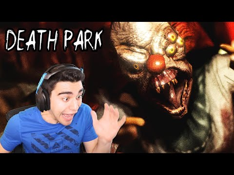 THIS CLOWN ATTACKED ME IN THE BATHROOM!!!! - Death Park (Part 1)