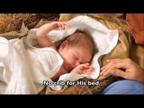 Away In A Manger - Susan Boyle - with Lyrics - (HD scenic) - new -