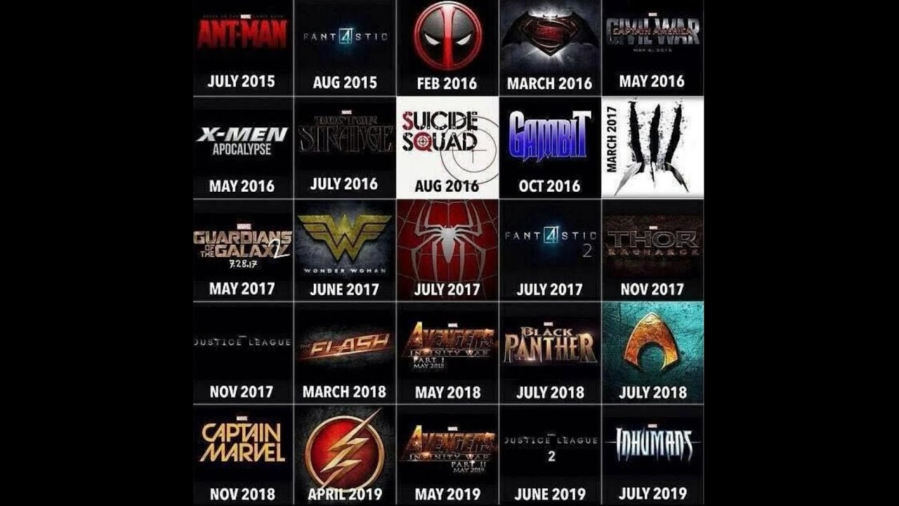 Marvel movies 2016