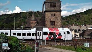 St. Goar [Personenzüge] mit SÜWEX, ICEs, vlexx, ICs +CEWE-Lok, MittelrheinBahn ET 460