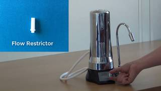 How to remove the flow restrictor from the elita CT-700
