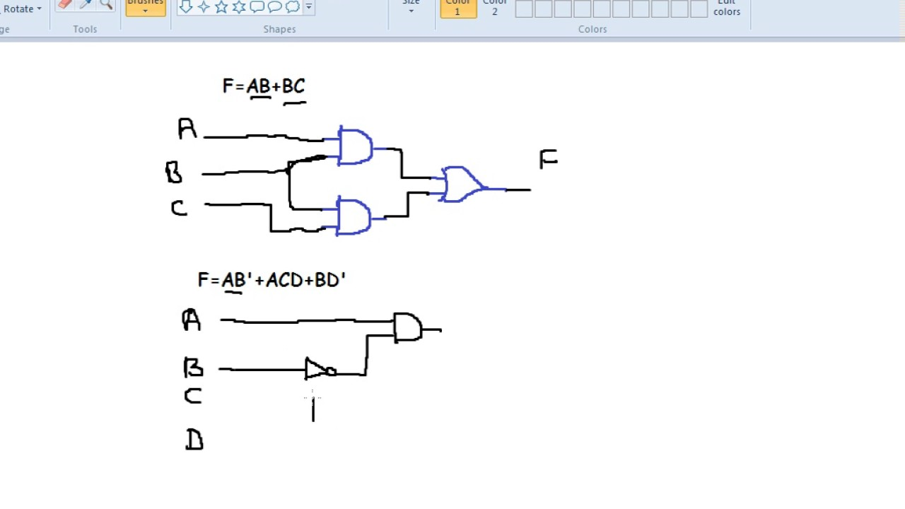 How to design digital circuit from Boolean function Hindi - YouTube