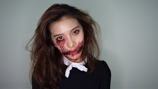 Easy Zombie Make Up for Halloween
