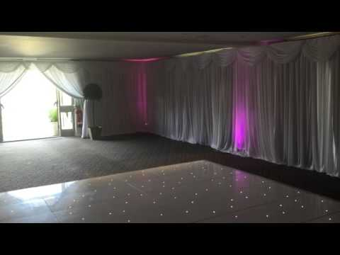 Wrightington Hotel, Wigan - Venue Drapes & LED Dance Floor Hire from AA Decorative Events