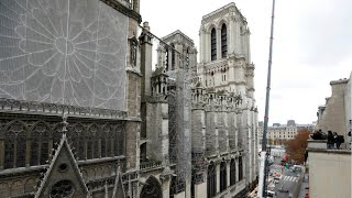 Reporters granted a rare look at restoration of Paris's Notre-Dame Cathedral