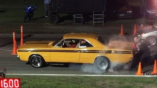 dodge polara rt vs 206corsa pick up burnout excelente video