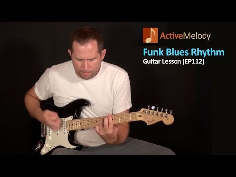 Funky Blues Rhythm Guitar Lesson in A minor – EP112
