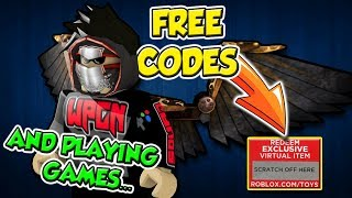 FREE ROBLOX Codes and Playing Games with SUBS
