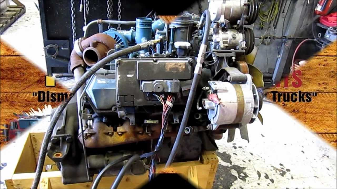 1998 International T444E Diesel    Engine    Running 174K miles  YouTube