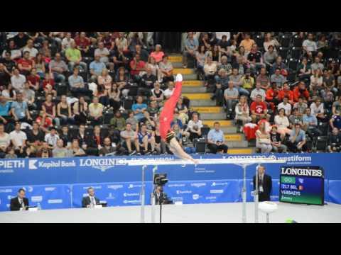 Championnats d'Europe Senior 2016 - Jimmy Verbaeys - barres parallèles (qualifications)