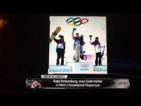 Sage Kotsenburg: wins Gold medal in Men's Snowboard Slopestyle