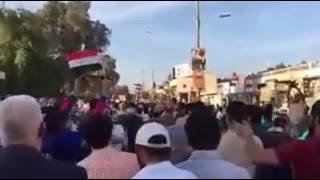 لاول مرة في العراق ... متظاهرون يهتفون بشعارات طريفة للغاية