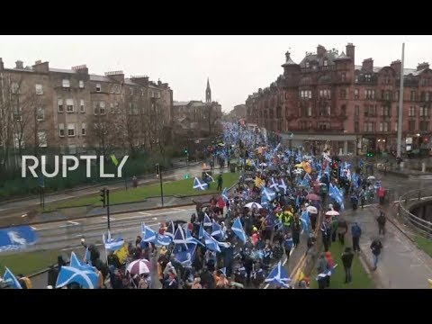 LIVE: Protesters hold 'emergency' march for Scottish independence in Glasgow