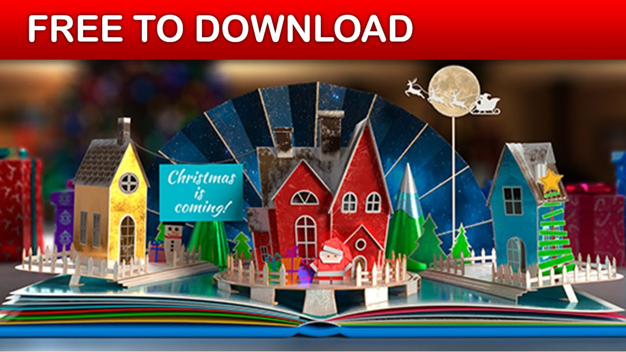 Christmas Pop-Up Book 2 | After Effects Template | Free Download ...