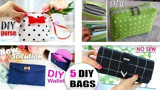 5 THE MOST CUTEST DIY BAGS EVER EASY MAKING // 5 Purse Bags Ideas From Scratch