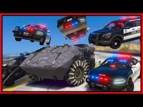 GTA 5 Roleplay - INDESTRUCTIBLE TANK DESTROYS COPS   RedlineRP