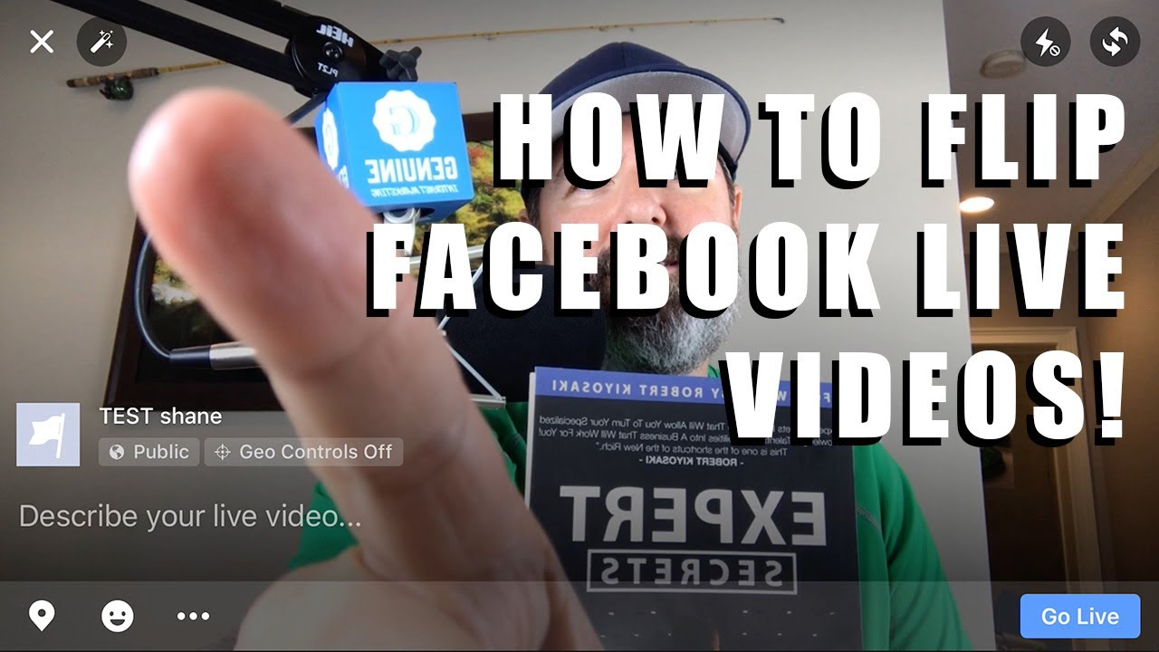 How to Flip Facebook Live Video on iPhone  Fix backwards text in Facebook  Live Vids!