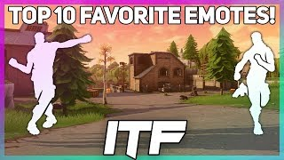 Top 10 Favorite Dance Emotes in Fortnite! (Fortnite Battle Royale)