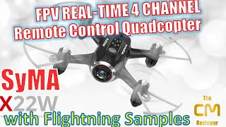 SYMA® X22W FPV Drone (Wifi Version) | Flight Examples | Hands-on (D...