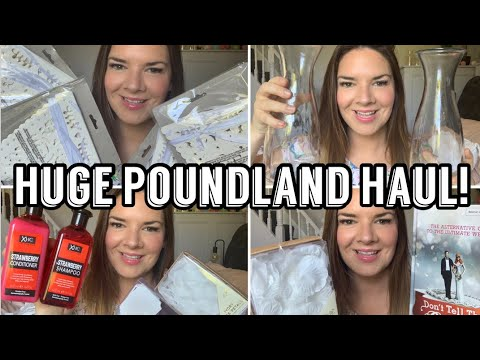 Huge Poundland Haul | Poundland Wedding Haul | Kate McCabe