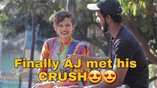 Meet AJ's Crush | (SECRET REVEALED) He Fallen In LOVE With HER | Pranks In India | Oye It's Vlog