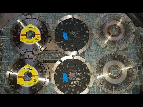 Сравнение алмазных дисков для штробленя бетона. Результат удивил!!!