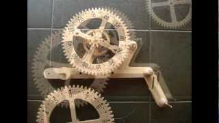 Clayton Boyer Genesis Wooden Gear Clock Solid Oak