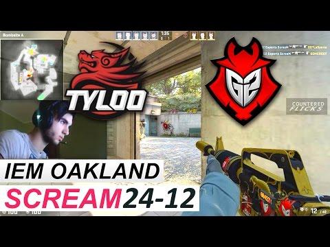 ScreaM POV 24-12 vs TyLoo (IEM Oakland 2016)