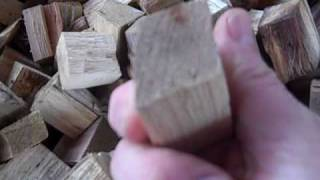 Wood chunks for the gasifier