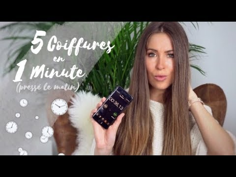 5 Coiffures A Faire En 1 Minute Presse Le Matin Laura Milow