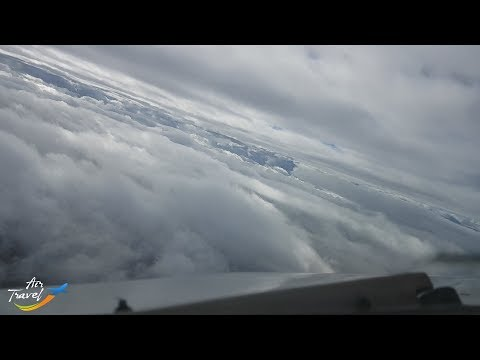 Awesome foggy approach, landing & taxi at Yerevan (EVN) - cockpit ✈