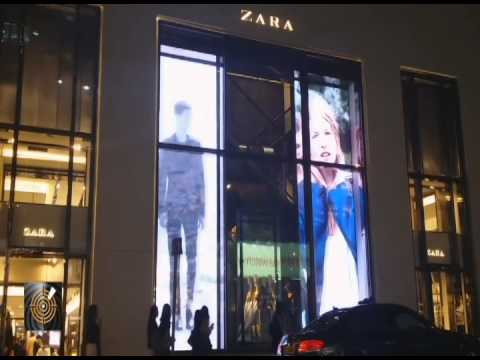 Digital Windows At Zara Youtube