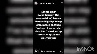 Xxxtentaction Vents on Instagram | Instagram Story | Sunday, November 26th 2017