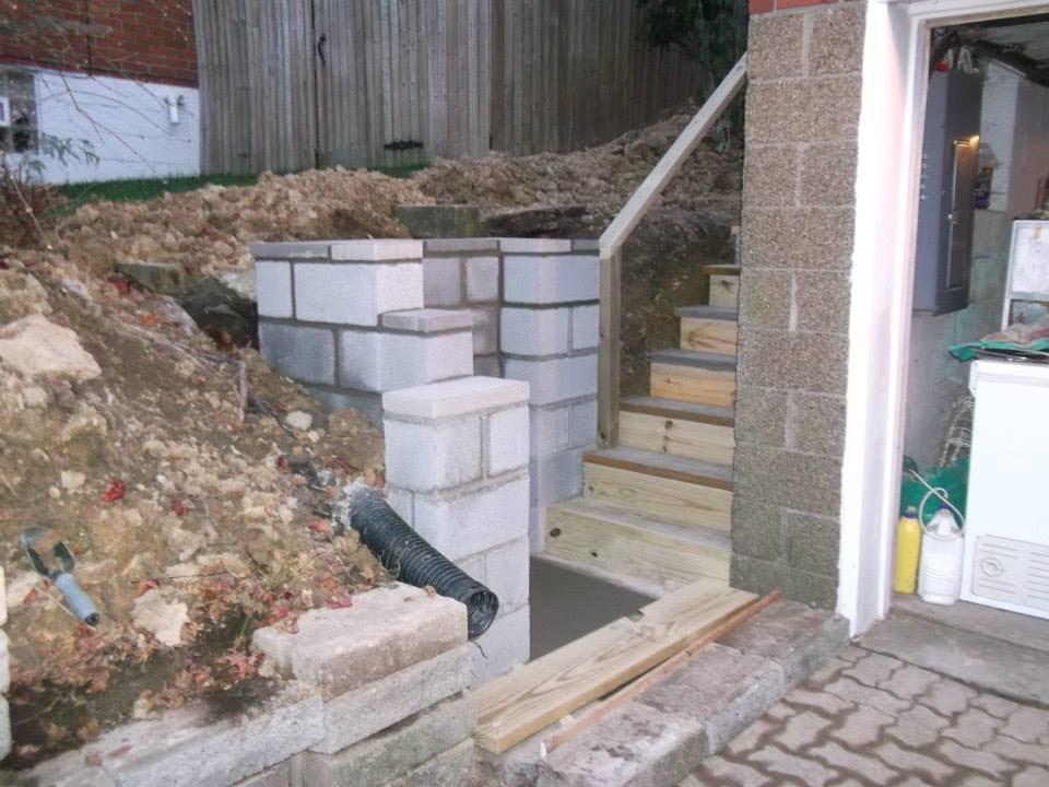 RETAINING WALL U0026 STAIRCASE BUILD