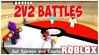 2v2 BATTLE TIME!   Pokemon tijolo bronze   ROBLOX   o iBeMaine