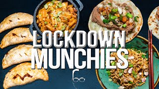 QUARANTINE (LOCKDOWN) MUNCHIES - 5 QUICK & EASY RECIPES FROM THE PANTRY | SAM THE COOKING GUY 4K