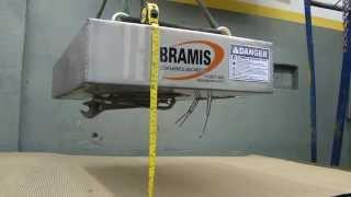 Placa de separação Magnética Bramis Ferrite 300 mm Altura de campo.