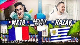GROSSE BATAILLE NAVALE SPECIALE FRANCE-URUGUAY VS RAZAK SUR FUT 18 !!!