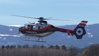 Flugpolizei Eurocopter EC 135 P2+ landing at Graz Airport | OE-BXY