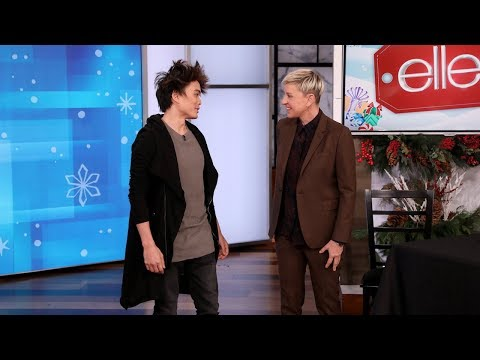 Shin Lim Shocks Ellen With A Magic Trick Proving Their Similarities