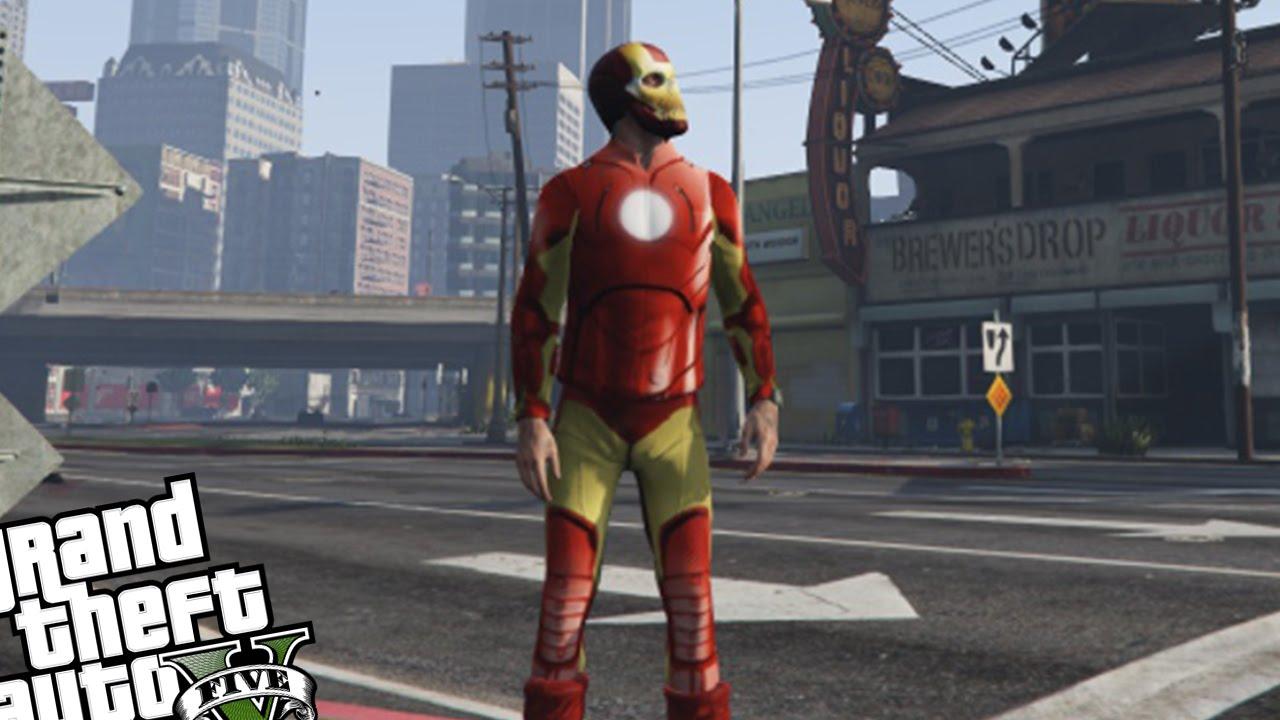 Скачать iron man мод для гта 5