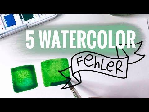 Die 5 größten Watercolor Fehler