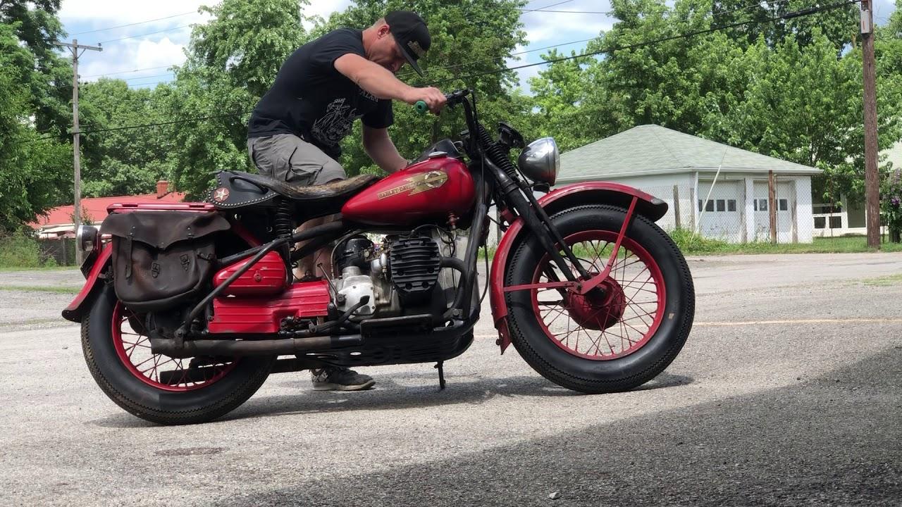 1942 Harley-Davidson XA - Cold Start - YouTube